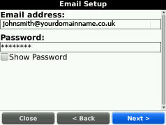 Email Address & Password