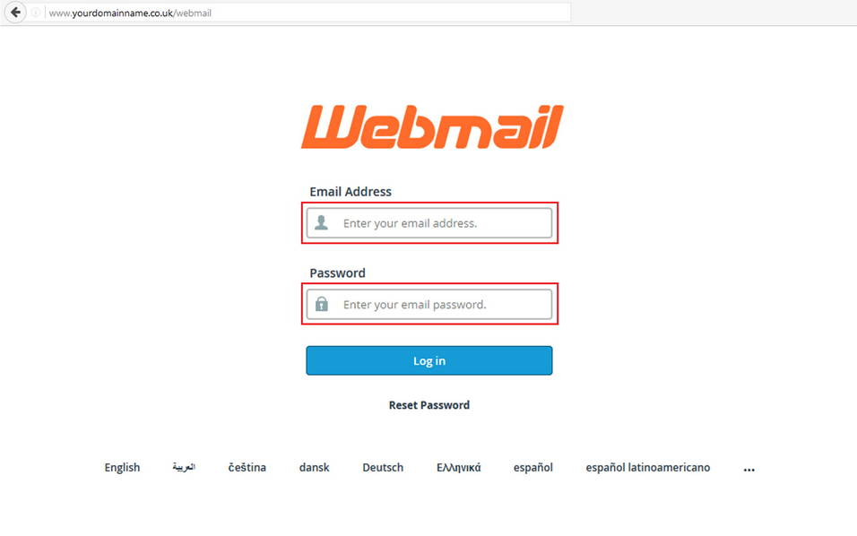 Logging In And Using Webmail - Support